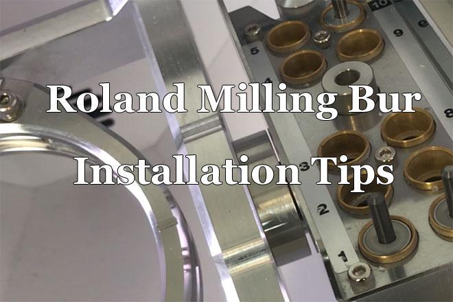 Roland Milling Bur Installation Tips